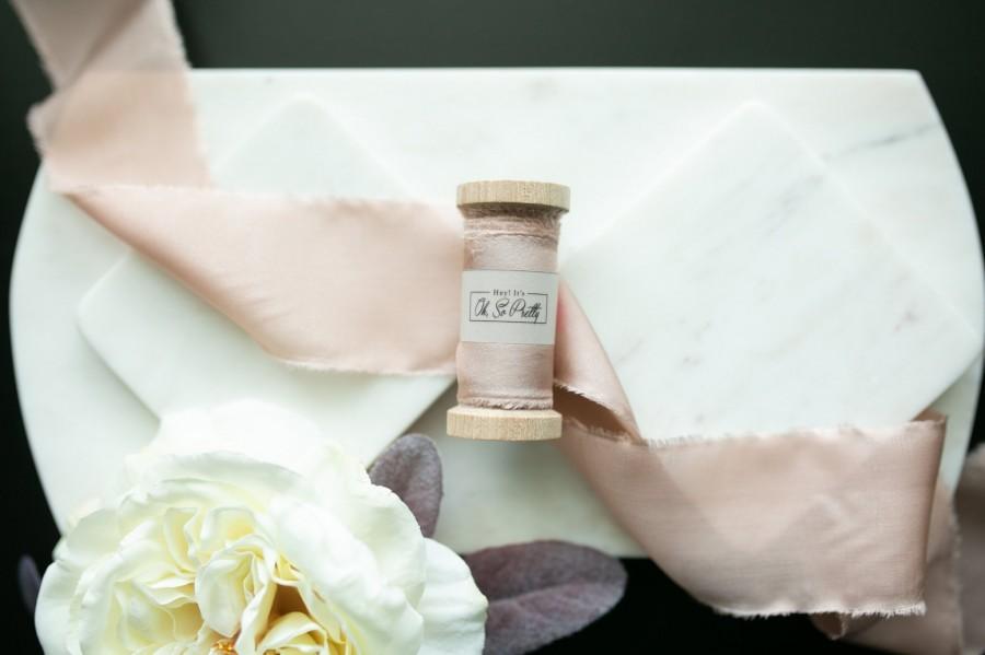 Blush Silk Ribbon 100 Silk Wedding Bridal Bouquet Invitations