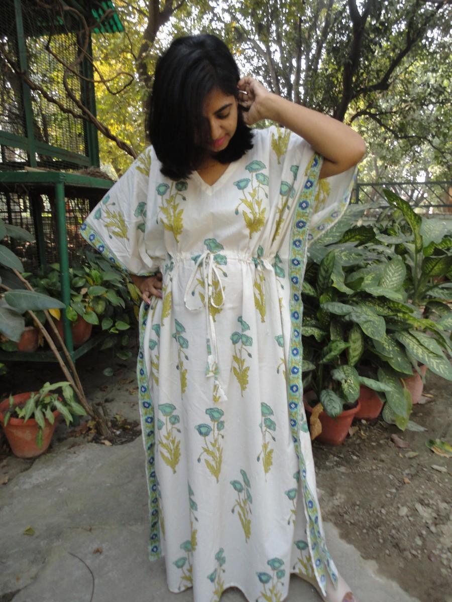 Maternity Robe Cotton Kaftan Dress Caftan Maxi Dress Hospital Gown
