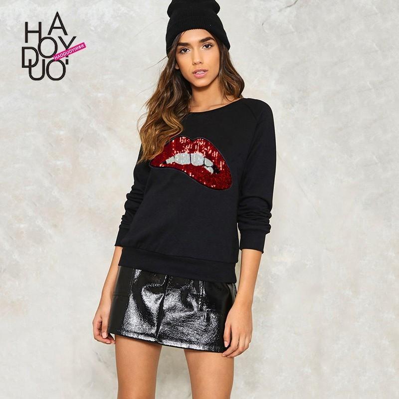 Hochzeit - School Style Must-have Vogue Simple Appliques Long Sleeves Summer Hoodie - Bonny YZOZO Boutique Store