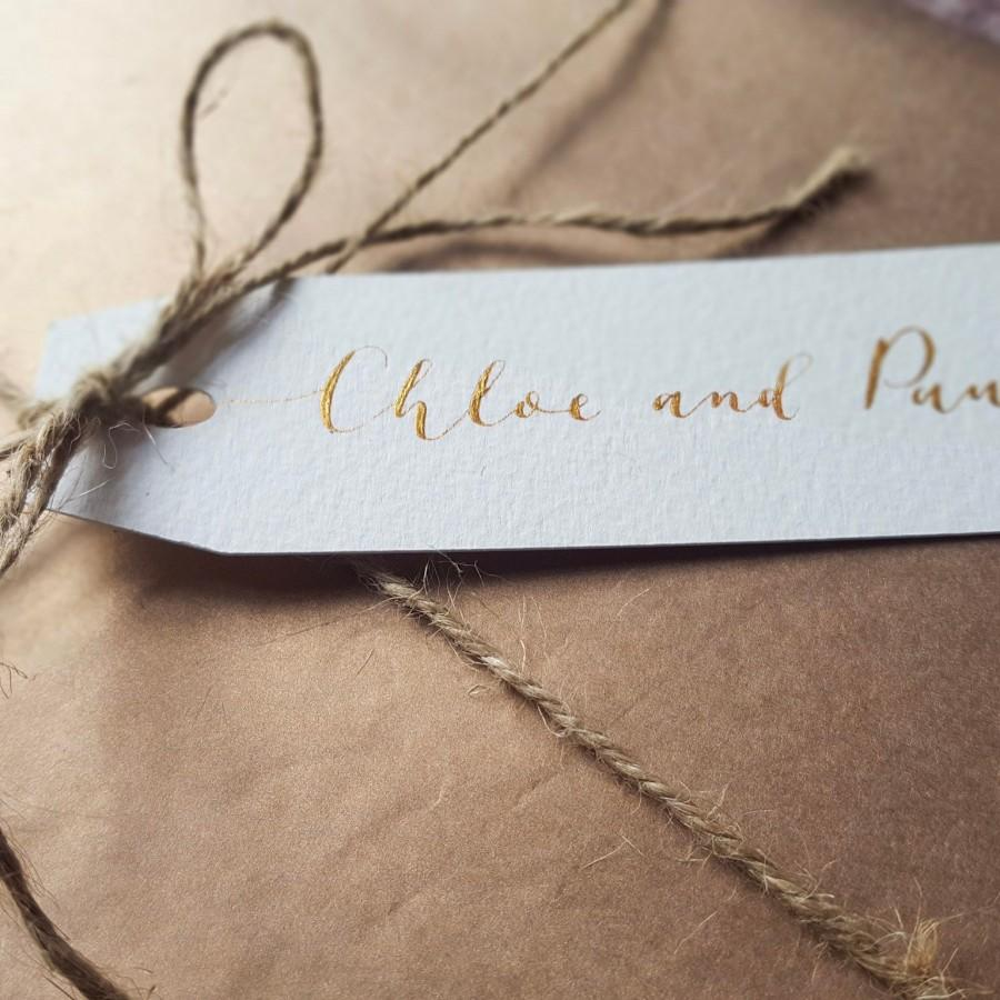 Hochzeit - Personalised Christmas Gift Tag / Modern Calligraphy Personalised Name Tag / Handwritten Gift Tag