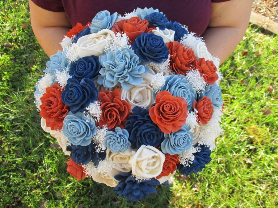 Mariage - The Country Western Wood Flower Wedding Bouquet