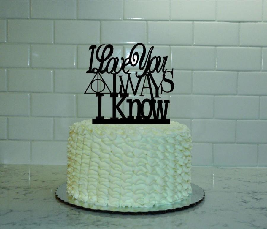 Harry Potter Star Wars Wedding Cake Topper I Love You I Know After