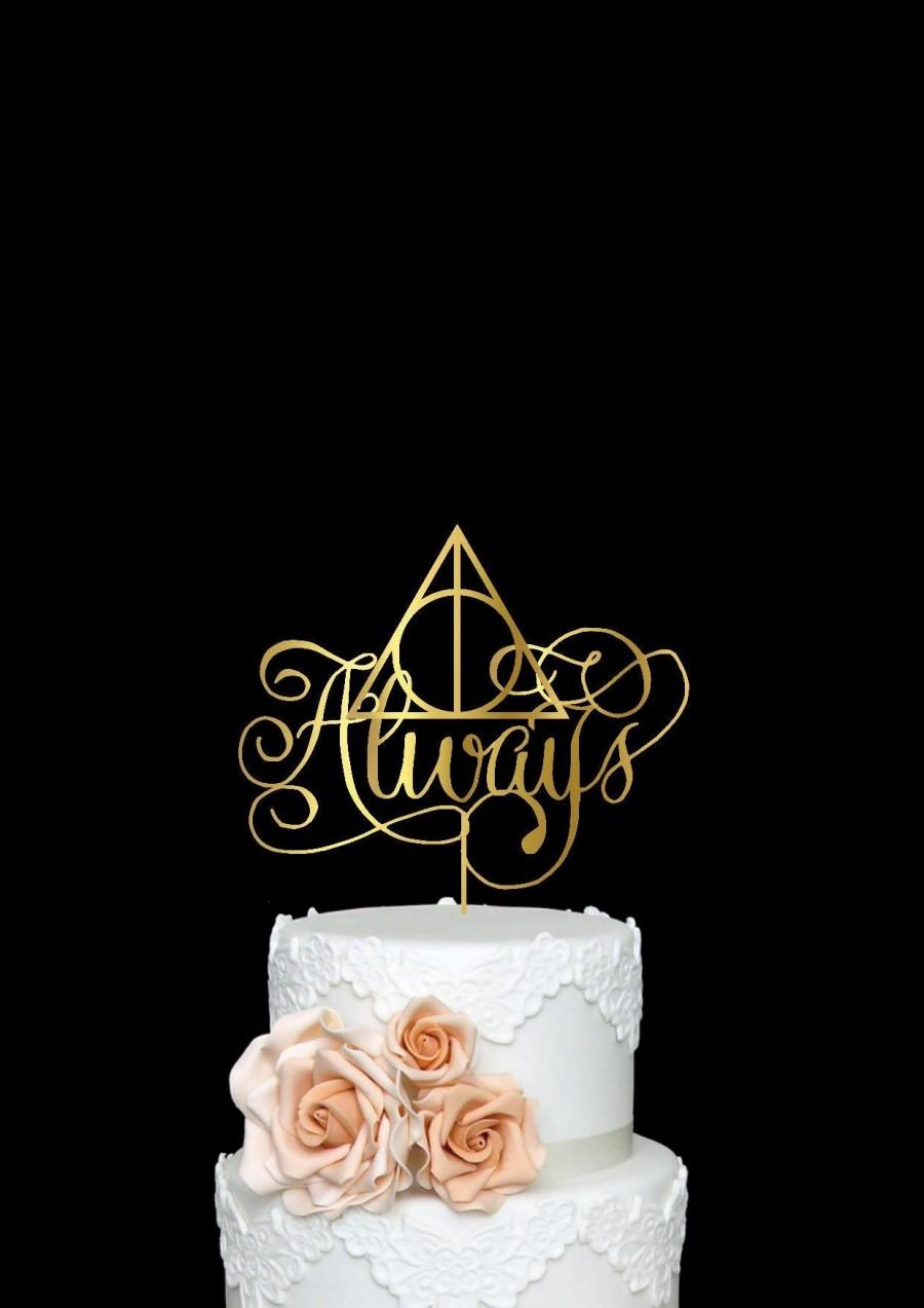 Harry Potter Always Cake Topper Inspired Wedding Cake Topper Always