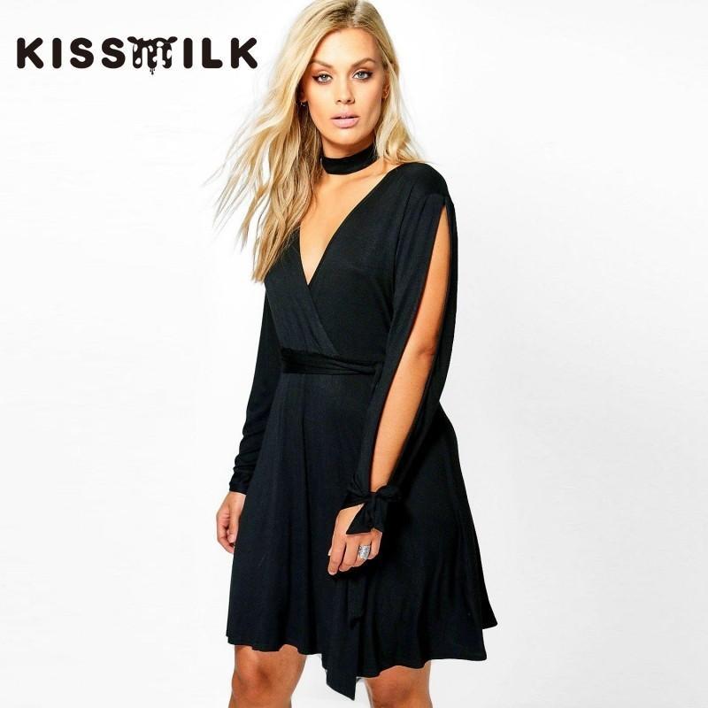 Свадьба - Must-have Vogue Simple Slimming Off-the-Shoulder Tie Dress - Bonny YZOZO Boutique Store