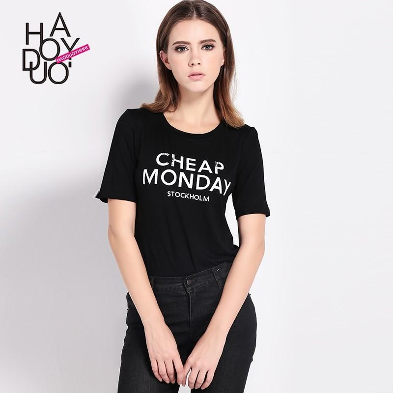 Wedding - Summer 2017 new style fashion simple letter printing relaxed casual short sleeve women's t-shirts - Bonny YZOZO Boutique Store