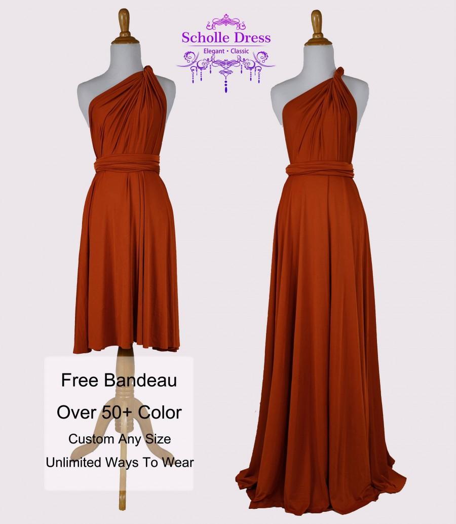 Burnt Orange Fall Bridesmaid Dresses