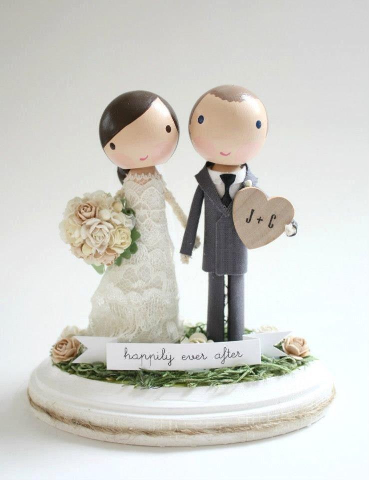 Свадьба - custom wedding cake topper - banner & heart