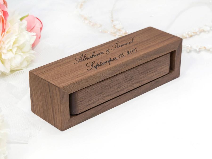 Custom Enement Ring Box   Ring Box Wedding Ring Box Ring Bearer Box Engagement Ring Box