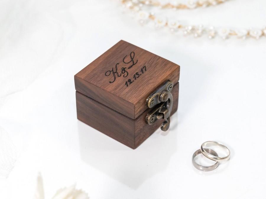 Mariage - ring box wedding ring box ring bearer box engagement ring box proposal ring box ring bearer wooden ring box rustic ring box custom ring box