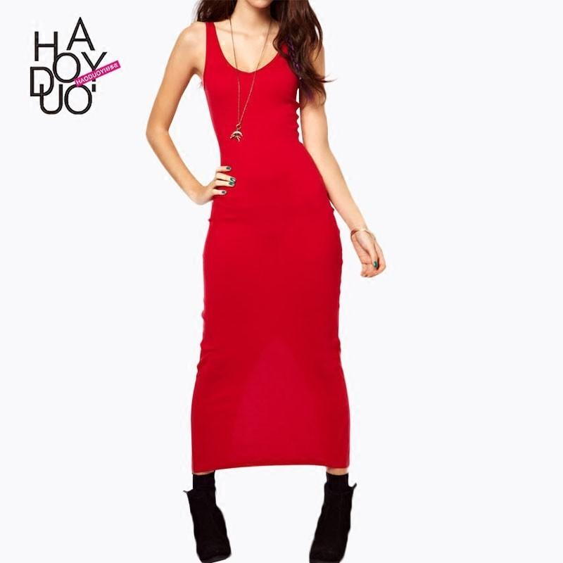 Свадьба - Slimming Jersey One Color Summer Flexible Split Dress - Bonny YZOZO Boutique Store