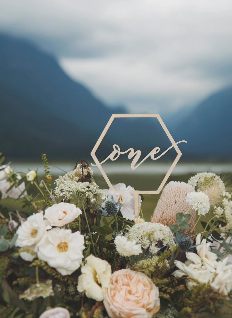 Wedding - Modern Table Numbers, Wedding Centerpieces, Fall Wedding Decor, Winter Wedding Decor