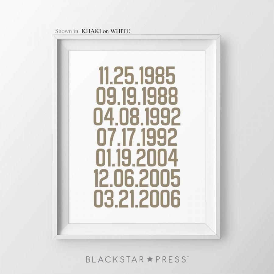زفاف - Important Dates Sign Gift For Parents Special Dates Print What A Difference A Day Makes Gift For Dad Gift From Daughter Gift For Mom
