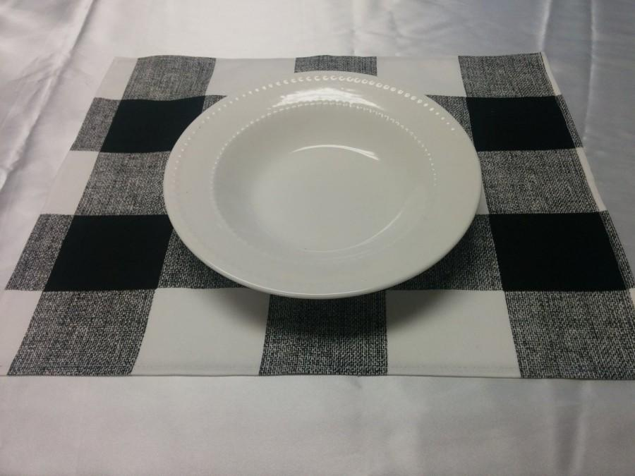 زفاف - BUFFALO CHECK LINENS, Table Runners, Placemats, napkins, colors,  black buffalo plaid, Wedding, Bridal, farmhouse Decor, kitchen, dining