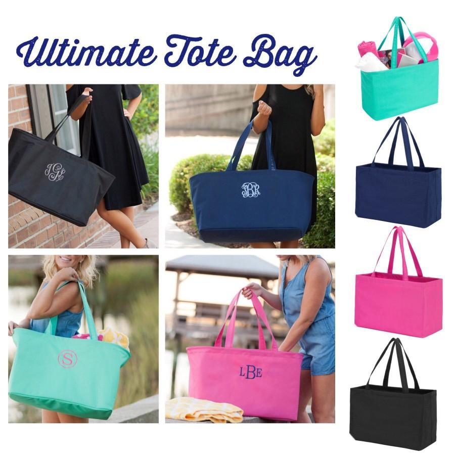 Свадьба - Oversized Tote Bag, HUGE Beach Tote, Carry All Beach Bag , Summer Beach Bag, Monogrammed Beach Bag