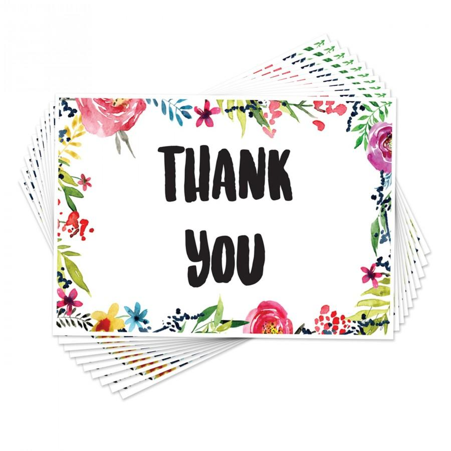 Wedding - New Floral Thank You Cards Postcards Notes Pads for Adults Men Ladies