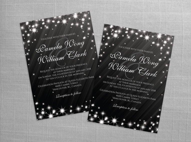 Свадьба - DIY Printable Wedding Invitation Card Template
