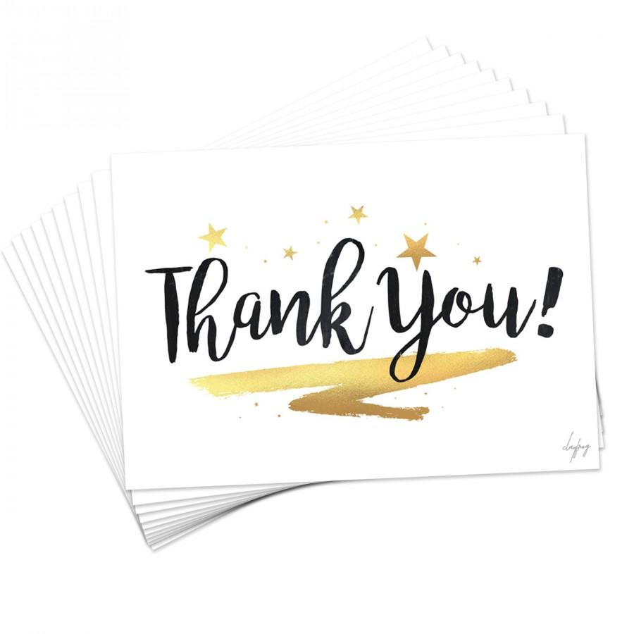 Свадьба - New Black and Gold Thank You Cards Postcards Notes Pads for Adults Men Ladies