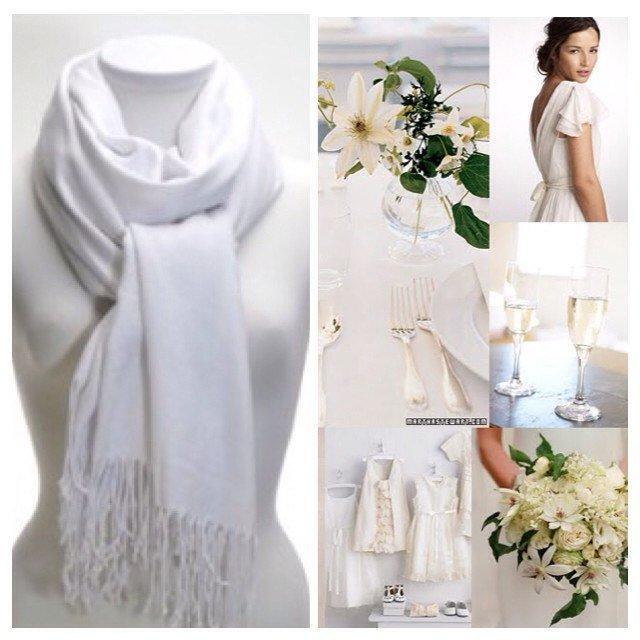 زفاف - White Pashmina Scarf Shawl / Personalized Initial Shawl / Bridesmaid Shawl / Wedding Accessories / Pashmina Shawl / Bridesmaid Gift