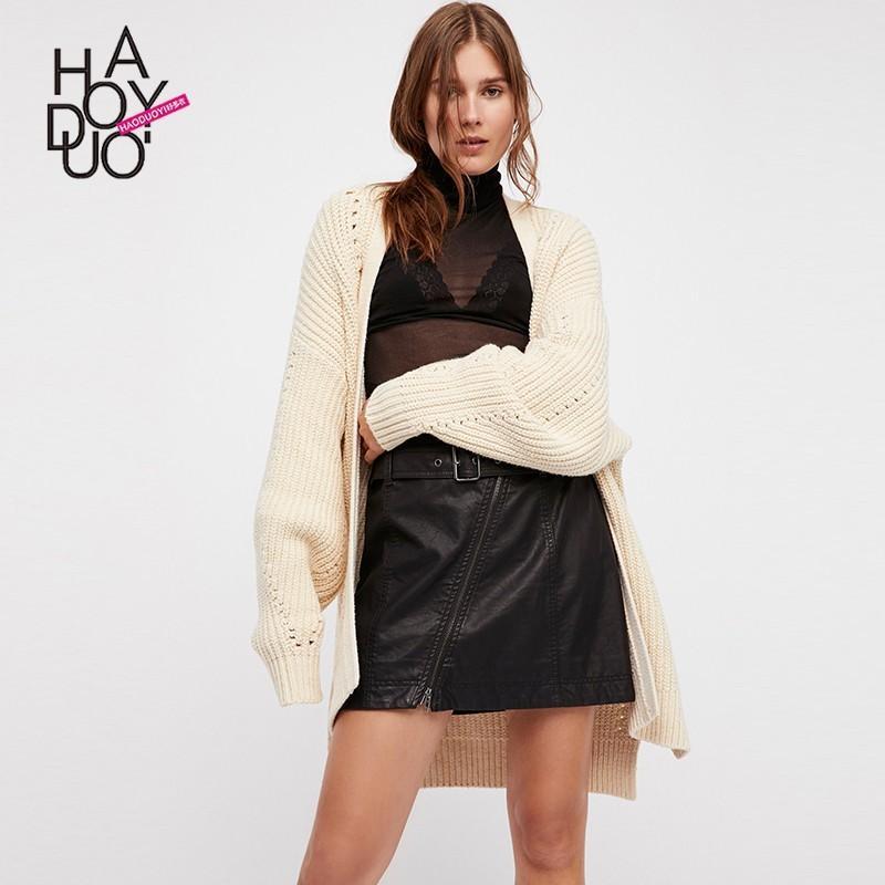 Wedding - Vogue Sweet Split One Color Fall Cardigan Sweater - Bonny YZOZO Boutique Store