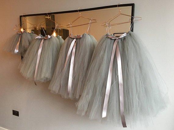 7719498b3 Long Grey Tutu, Flower Girl Dress, Flower Girl Tutu, Silver Grey Tutu, Girls  Tutu, Bridesmaid Tutu, Adult Tutu, Wedding Tutu, Tulle Skirt