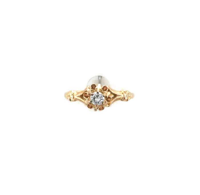 Mariage - 14 Karat Yellow Gold Diamond Victorian Ring, Antique Engagement Ring, Diamond Engagement Ring, Antique Diamond Ring, Engagement Ring