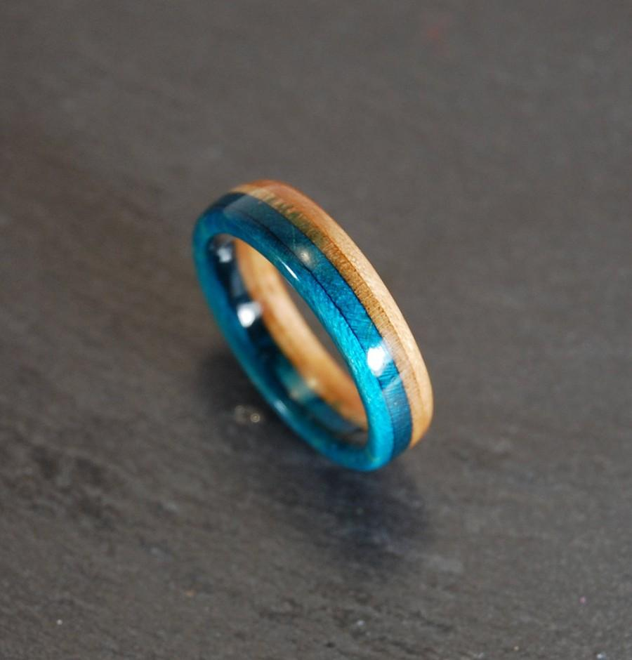 Wedding - Buy 2 get 1 FREE, Skateboard Ring, Wooden Ring, Mens Wood Ring, Unique Wedding Band, Recycled Skateboard, Upcycled Men Gift, Rings for Woman