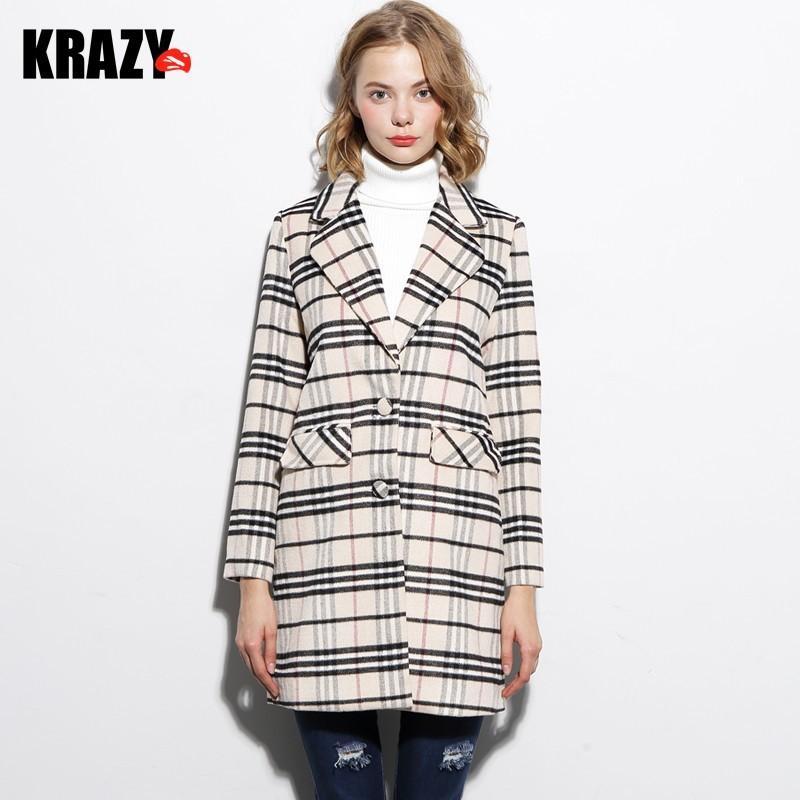 Свадьба - School of leisure in the h-shaped long Plaid coat Plaid woolen cloth coat 6852 - Bonny YZOZO Boutique Store