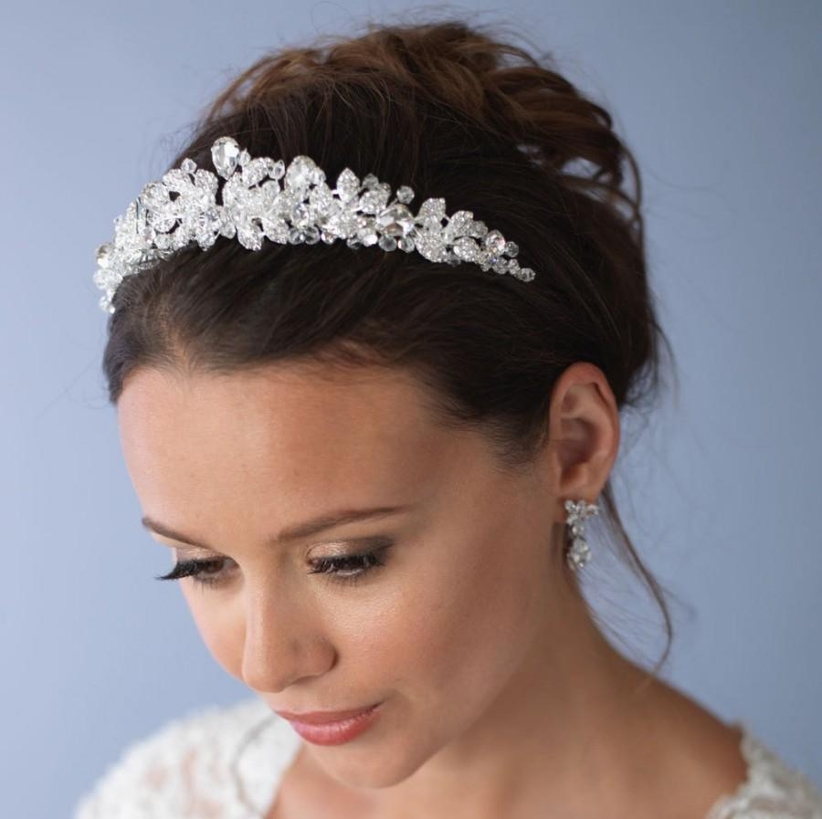 Wedding - Swarovski Crystal Tiara, Princess Crown, Crystal Wedding Tiara, Elegant Bridal Tiara, Swarovski Crystal Crown,Crystal Bridal Crown  ~TI-3100