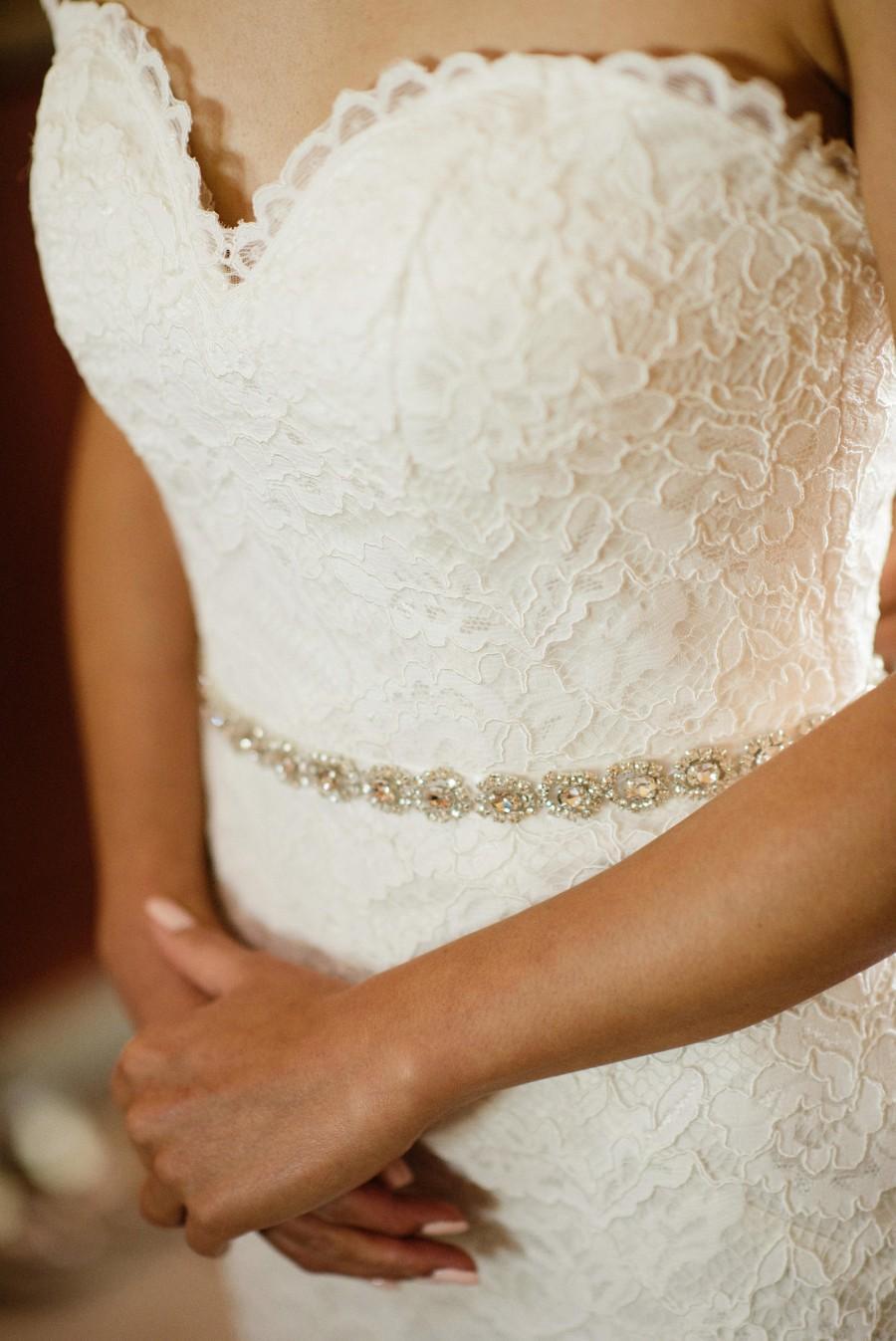 Hochzeit - Bridal Sash, Wedding Sash, Bridal Belt, Crystal Bridal Sash, Rhinestone Sash, Jeweled Belt Wedding Gown Belt Thin Bridal Belt Swarovski Sash