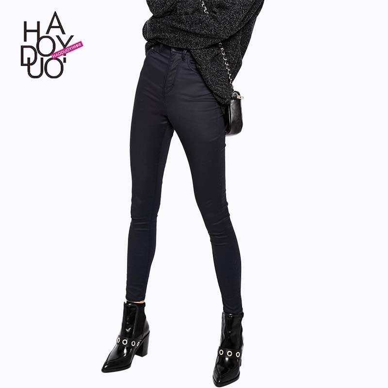 Свадьба - Fall 2017 women outside the new skinny jeans wearing and plush padded pants black slacks nine pants - Bonny YZOZO Boutique Store