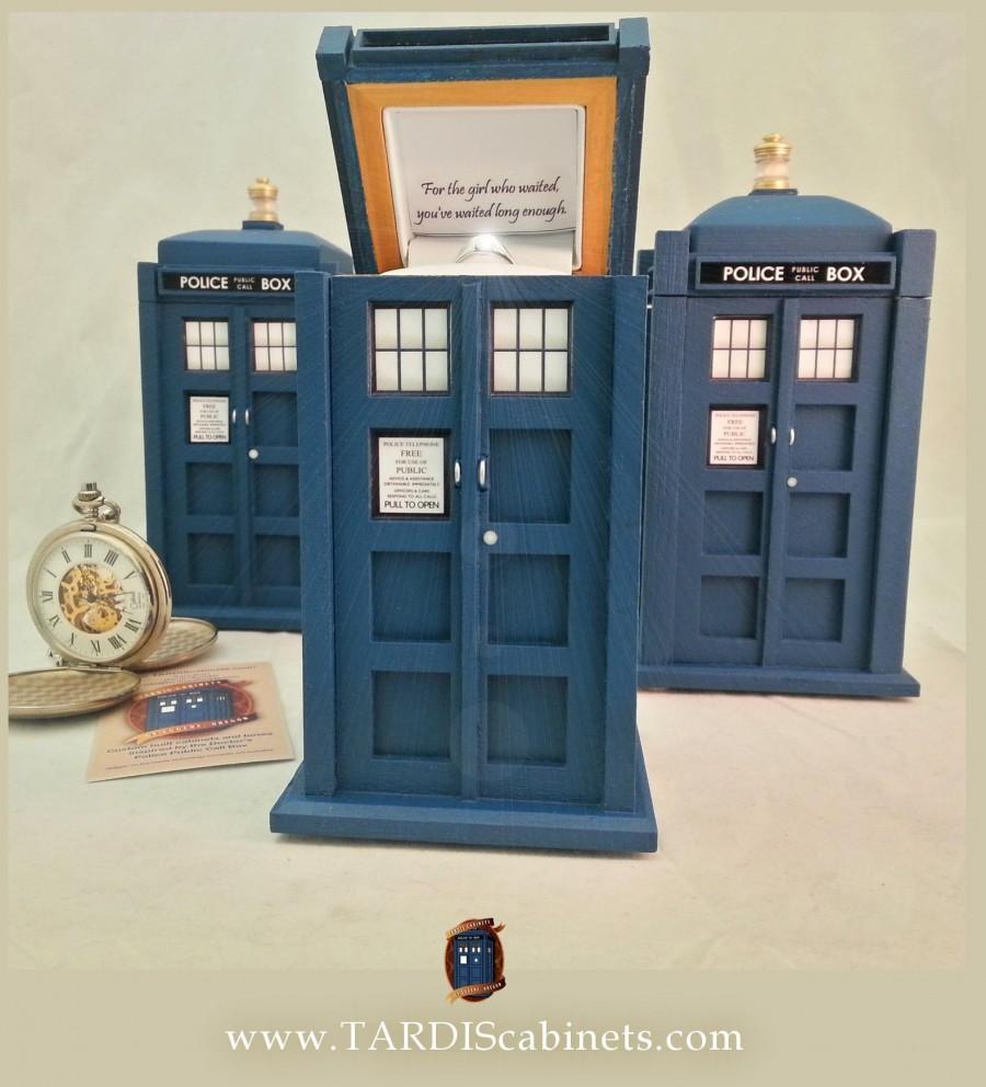 Wedding - TARDIS Inspired Ring Box - 9th / 10th Doctor