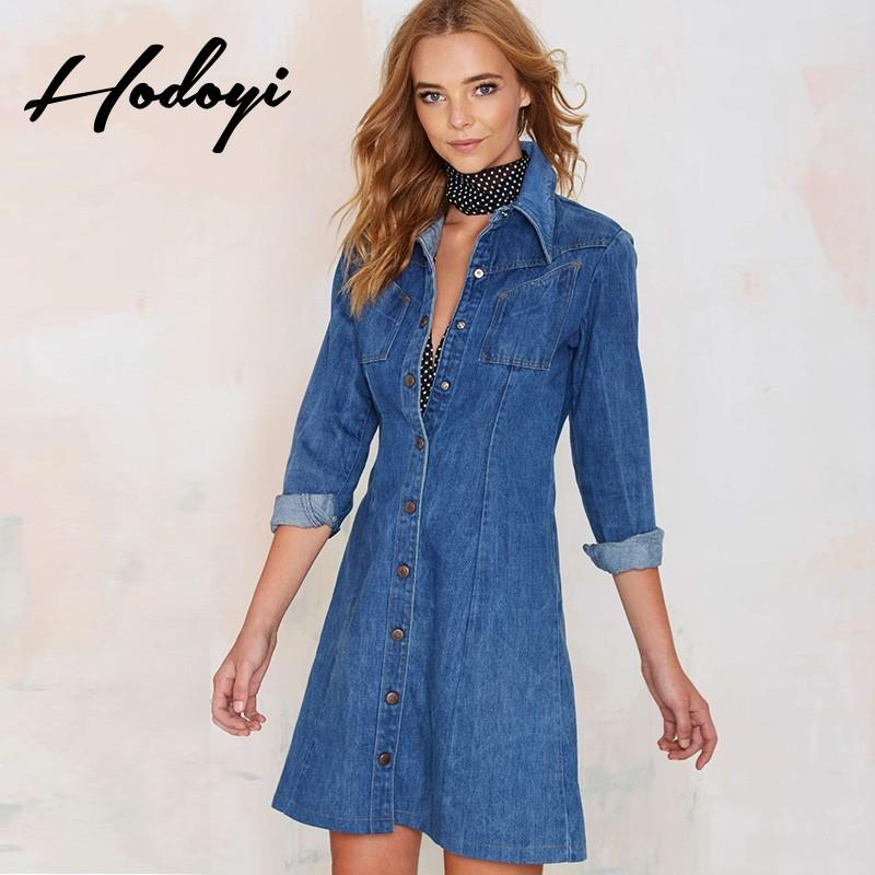 Wedding - Autumn in new denim dress long sleeves slim leisure jacket - Bonny YZOZO Boutique Store