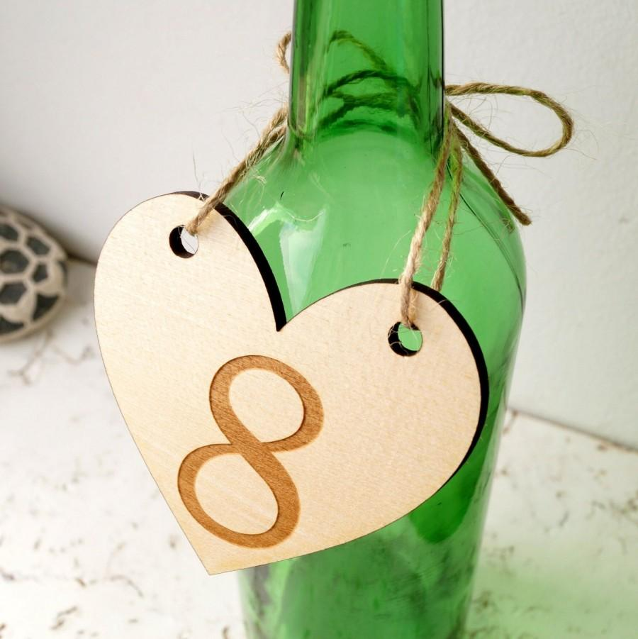 Wedding - Wedding table number, wooden table numbers, rustic heart table numbers, unfinished wood numbers, diy wedding table decoration