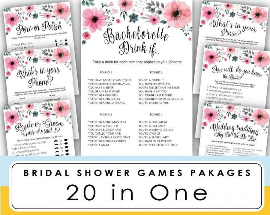 Wedding - Bachelorette Party Games . Drink If Game . Printable Bachelorette Games . Hen's Night, Hen Party .  bachelorette party . bachelorette games