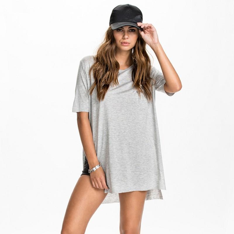 Mariage - Must-have Street Style Simple Split Slimming Short Sleeves Top T-shirt Basics - Bonny YZOZO Boutique Store