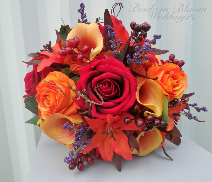 Свадьба - Fall wedding bouquet - Autumn wedding flowers - Bride bouquet - Bridesmaid bouquet