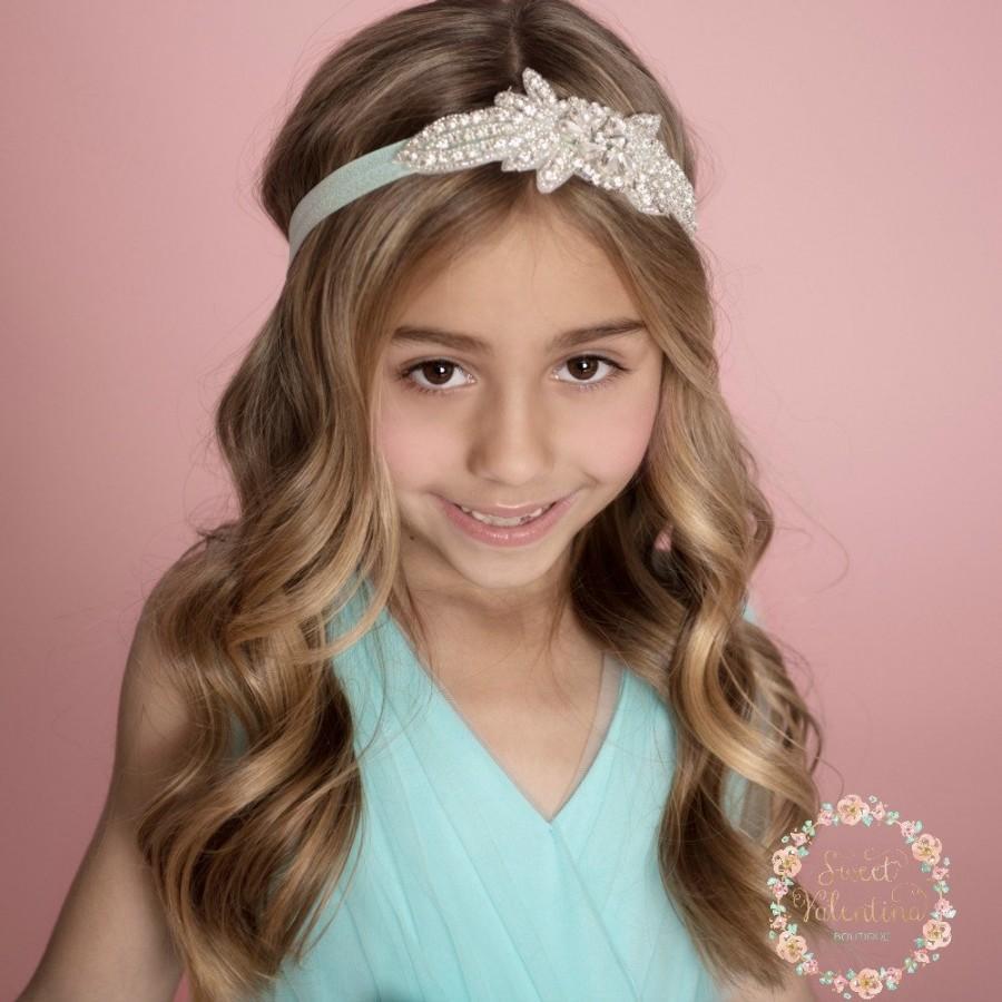 Wedding - Rhinestone Headband, Flower Girl Headband, Crystal Headband, Bridal Headband, Gatsby Headband, Bling Headband, Wedding Headband