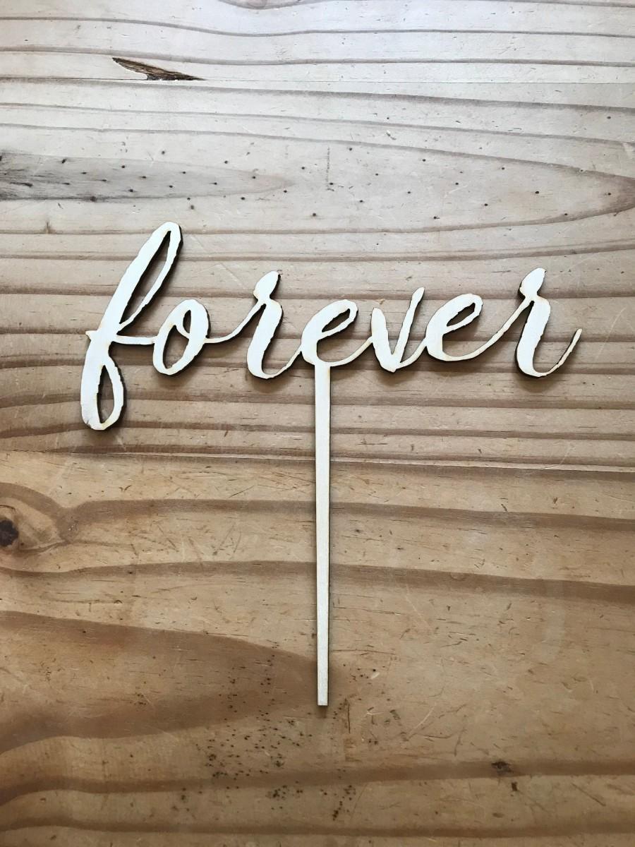 Wedding - Forever Cake Topper