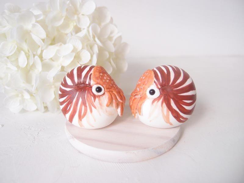 زفاف - Hand Sculpted Wedding Cake Toppers - Nautilus