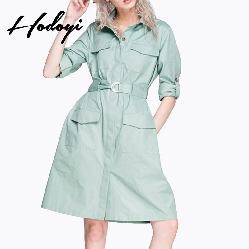 Wedding - Must-have Vogue Slimming High Waisted Pocket One Color Fall Coat - Bonny YZOZO Boutique Store