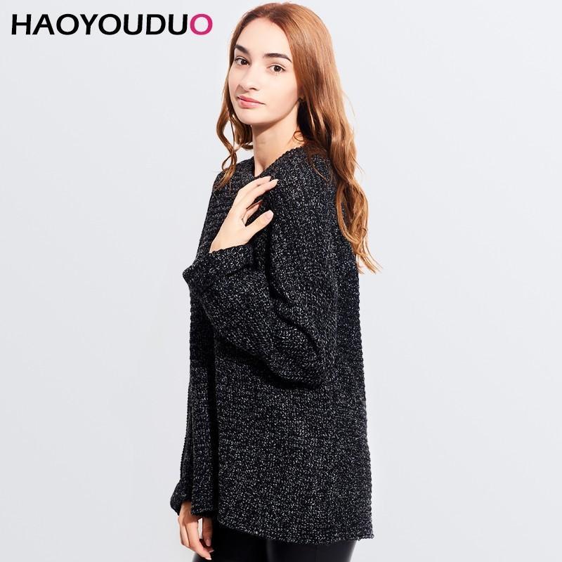 Wedding - Oversized Batwing Sleeves Casual Knitted Sweater Sweater Coat Basics - Bonny YZOZO Boutique Store