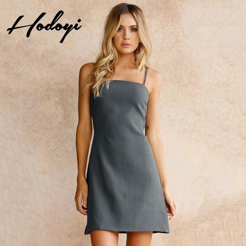 d940f312a39 Vogue Sexy Hollow Out One Color Summer Tie Strappy Top Dress - Bonny YZOZO  Boutique Store