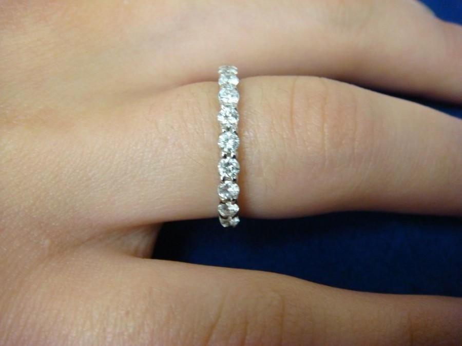 Wedding - Natural Diamonds 2.2 mm Half Eternity Ring