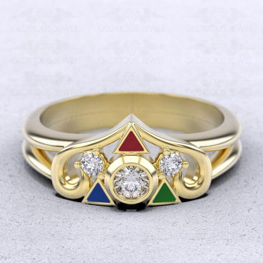 Wedding - Legend of Zelda, Ocarina of time, geek rings, engagement ring, Breath of the wild, Princess Zelda, Zelda ring, Triforce ring, Custom made
