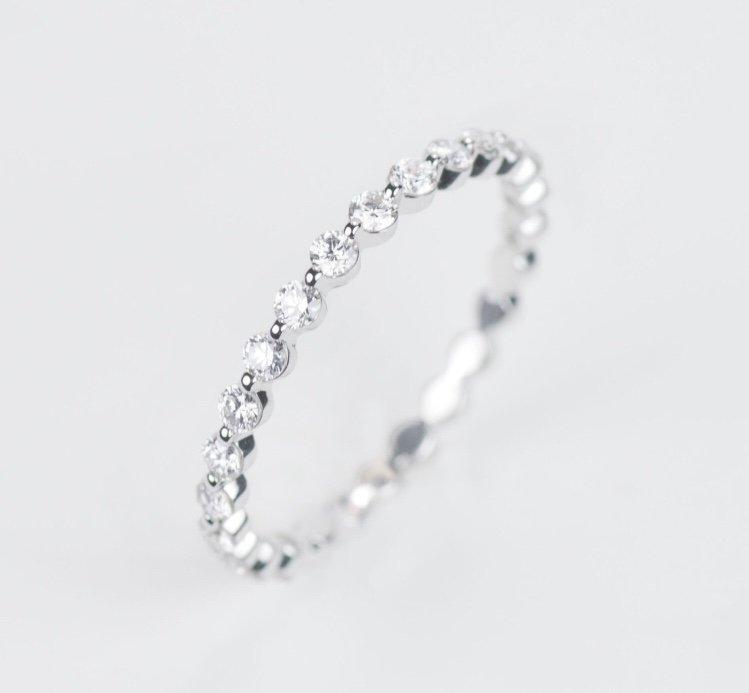 Wedding - Natural Bubble and Breath Diamond ring