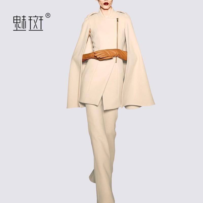 Wedding - Vogue Sleeveless Fall Outfit Twinset Puncho Coat Wide Leg Pant Long Trouser Top Shawl - Bonny YZOZO Boutique Store