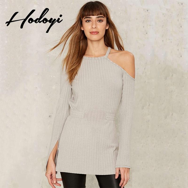 5aae95a9e9a Vogue Sexy Split Asymmetrical Hollow Out Curvy Summer Knitted Sweater - Bonny  YZOZO Boutique Store