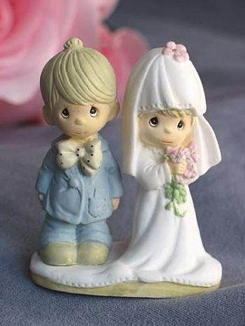 "Hochzeit - Precious Moments ® ""The Lord Bless You and Keep You"" Small Wedding Cake Topper Figurine - 704418"