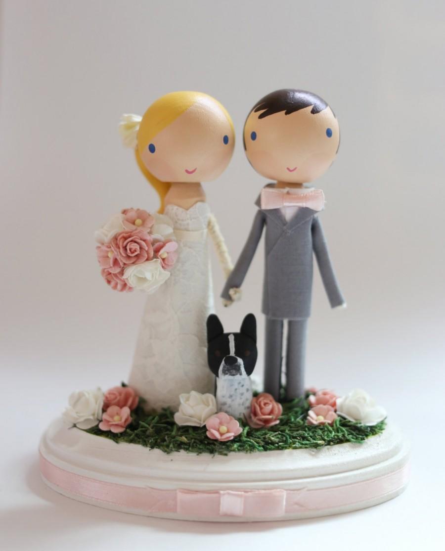 Mariage - custom wedding cake topper - standard base