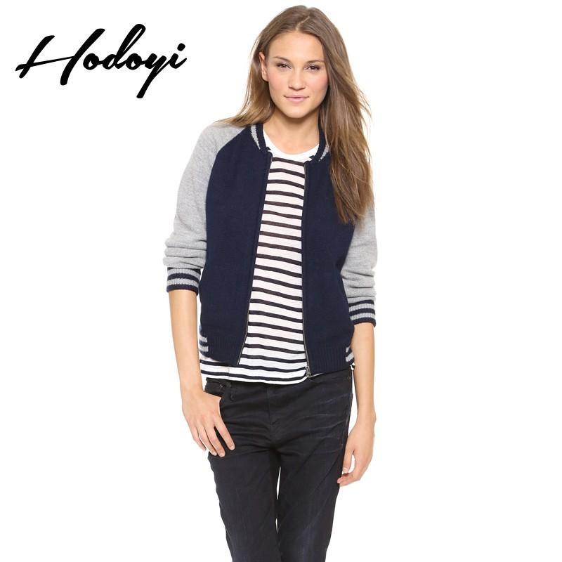 Hochzeit - Vogue Split Front Solid Color Slimming Jersey Zipper Up Fall Cardigan Sweater - Bonny YZOZO Boutique Store